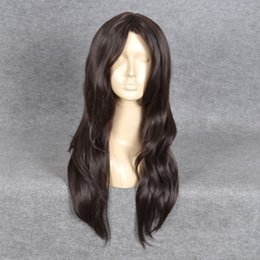 Long Hair Wave Style Australia - KIM STYLING MIDDLE PART LONG Natural Wavy HAIR WIG + a wig cap