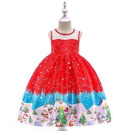 1423bb11e35 good quality Kids Dress Baby Girls Santa Print Princess Dress Christmas  Outfits Clothes princess dress girl costume vestido menina