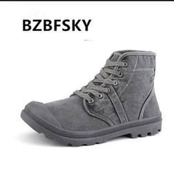 $enCountryForm.capitalKeyWord NZ - BZBFSKY 2019 Autumn Early Winter Boots Men Canvas Shoes High top Casual Shoes Fashion Men's Boots Male Brand Ankle Botas