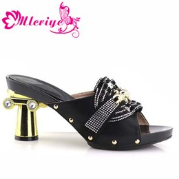 Green Women Shoes Ribbon Lace Australia - Latest Designer Shoes Women Luxury 2019 African Women Shoes Decorated with Rhinestone Pumps Women Shoes High Heels Wome Pumps