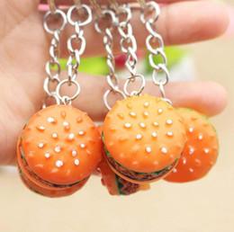 Friendly Hamburger Cute Keychain Simulation Food Hamburger Pendants Keyring Novelty Key Chain Christmas Birthday Gift New Jewelry Sets & More