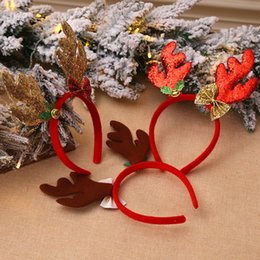 loose figures Australia - Christmas Decorations Antlers Head Buckle Loose Powder Long Antler Children'S Holiday Show Christmas Headband