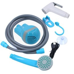 Shower waSh online shopping - Portable Camping Shower USB Charging Shower Pressure Pump Car Washing Machine Pump Set