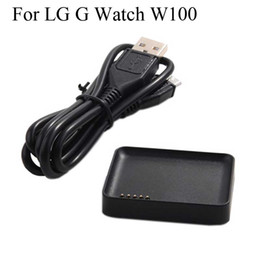 Wholesale smart watch for lg for sale - Group buy For LG G Watch R W100 Magnetic Charger Cradle Charging Dock LG Smart Watch charge with m USB Cable