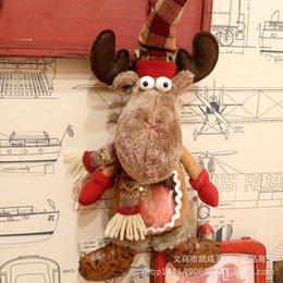$enCountryForm.capitalKeyWord Australia - 2020 New Christmas Cute Elk Gift Bag High Grade Christmas Eve Safe Fruit Bag Doll 43x22 Cm Home Decoration Indoor Pendant