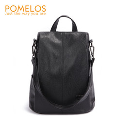 Soft Back Packs Australia - Pomelos Backpack Female Designer New Women Leather Backpack Anti Theft High Quality Soft Back Pack Casual Backpacks School Bags Y19052202