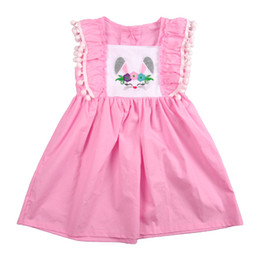 b2c84bc3d931 Easter New Design Pink Bunny Remake Baby Summer Girl Boutique Cotton  Clothing Princess Dress Match Girl Bubble Lyq811-374 Y19051003