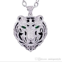 Bling Gifts Australia - Bling Iced Out Pendant Necklace Simple Design Micro Pave Full Cubic Zircon Leopard Dragon Tiger Head Chocke Collar Hip Hop CZ Jewelry Gift