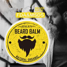Natural Beard Oil Conditioner Beard Balm Organic Moustache Wax for Beard Styling Health Care Gentlemen Cosmetics 50pcs on Sale