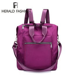 $enCountryForm.capitalKeyWord UK - Cheap Backpacks Herald Fashion School Bag Waterproof Nylon Brand New Schoolbag Women Backpack Polyester Bag Shoulder Bags Computer Packsack