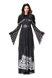 $enCountryForm.capitalKeyWord Australia - GLAMCARE Halloween Skull Witch costume masquerade party COS death dress up European and American evil sorcerer Suit NEW