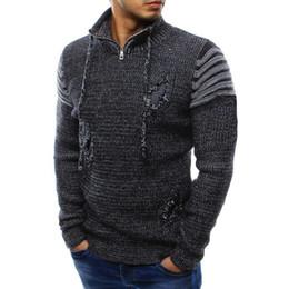 $enCountryForm.capitalKeyWord NZ - good quality Turtleneck Sweater Men Long Sleeve Winter Splicing Casual Elastic Turtle Neck Top Blouse Jumper Mens Wear Sweaters 2019