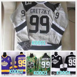 $enCountryForm.capitalKeyWord Australia - Cheap stitched 2016 LA Los Angeles Kings 99 Wayne Gretzky Purple black  camo ice hockey jersey shirt sportswear