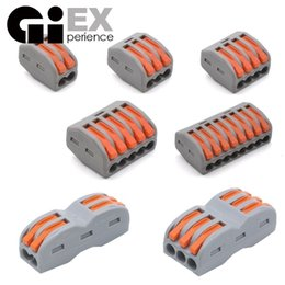 solar connectors cable UK - onnectors & Terminals Connectors 30 & 50 Pieces Mini Fast Universal Wiring Wire Connector & Set Conductor Terminal Block Solar Cable ...