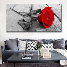 $enCountryForm.capitalKeyWord Australia - 1 Piece Wall Art Canvas Painting Picture Print Red Roses Flower Living Room Home Decorative Picture Paint on Canvas Modular Prints No Frame