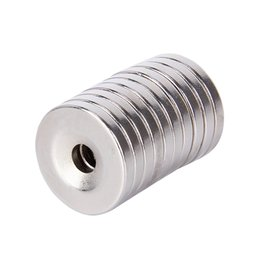$enCountryForm.capitalKeyWord UK - 10pcs 20 x 3 mm Hole 5mm N35 Super Strong Permanet Round Neodymium Countersunk Ring Magnet 20mm x 3 mm Rare Earth Magnets 20*3
