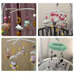 baby rattles set Australia - Rattles Set Diy Hanging Baby Crib Mobile Bed Bell Toy Rotary Holder Arm Bracket With Clockwork Movement Music Box Q190531