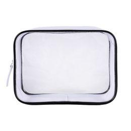 $enCountryForm.capitalKeyWord Australia - 1 Pc Hot Transparent Cosmetic Bag PVC Women Pouch Travel Organizer Bag Zipper Clear Handbags Case Waterproof Women Makeup