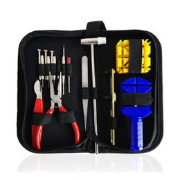 $enCountryForm.capitalKeyWord Australia - 16pcs set Disassembly Maintenance Professional Case Opener Opening Watch Tool Kit Hand Repair Changing Batteries Tweezer Band