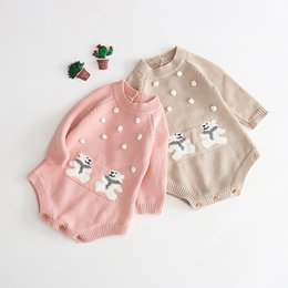 $enCountryForm.capitalKeyWord Australia - 2019 autumn ins baby baby girl cotton jacquard jumpsuit handmade bubble knit clothes crawling suit
