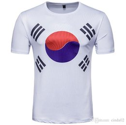 $enCountryForm.capitalKeyWord Australia - Korea Flag T-shirts White Short Sleeve Men Women Tops Crew Neck T-shirt Size M-2xl