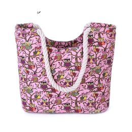 $enCountryForm.capitalKeyWord Australia - good quality Fashion Women Canvas Bag Shopping Handbag Owl Beach Bag Women Shoulder Handbags Canvas Lady Tote Bags