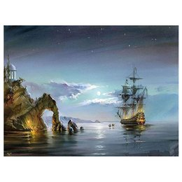 $enCountryForm.capitalKeyWord Australia - Framed Unframed Diy Digital Painting Paint by Numbers on Canvas with Acrylic Paints Brushes for Adults Beginners-Seascape Oil Painting
