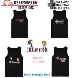 $enCountryForm.capitalKeyWord Australia - Grey's Anatomy Sleeveless Shirts Tank Top Unisex Fitness Summer Shirts Mens Women Singlet Bodybuilding Workout Gym Vest Tops