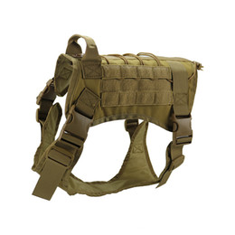 Tactical Vests Molle Australia - Hot Selling 3 Colors K9 Tactical Training Dog Harness Military Adjustable Molle 1000D Nylon Vest Dog Apparel M L XL M85F