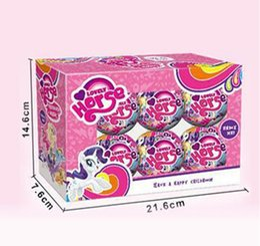 LittLe girLs toys online shopping - 1 Dolls For LOL Cartoon Little Horse Unicorn Rainbow For Surprise Ball Animal Action Figure Toy Anime Girl Birthday Gift