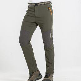 50cd87e2c0f Winter Hiking Pants Waterproof Softshell Quick Dry Men Camping Thermal  Fleece Keep Warm Ski Trousers Male Plus Size Pants XXXL