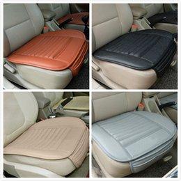Nueva cubierta de cuero de cuero de la PU almohadilla del asiento delantera del automóvil de la silla de la silla de la silla de la silla del cojín de los accesorios de automóviles Tamaño universal en venta