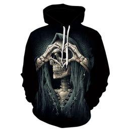 $enCountryForm.capitalKeyWord Australia - Stylish men's skulls 3D printed hoodies for men and women fun hip hop skulls hearts designed sweatshirts 3D harajuku hoodies