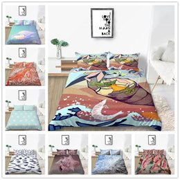 hot pink king size bedding Australia - Modern Hot Bedding Set Single Double King Size Beach Shell Bedding Supplies 2 3pcs 3D Printing Fish of Home Bedclothes