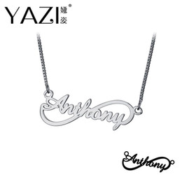 $enCountryForm.capitalKeyWord Australia - YAZI Personalized Name Necklace Gold Color Copper Infinity Pendant Engraved Single Name Custom Jewelry Memory Gift For Friend
