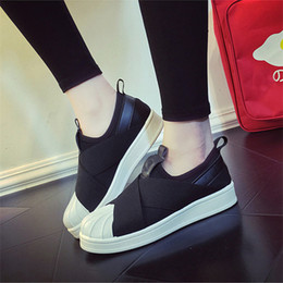 White Cotton Slips Australia - 2018 Spring SUPERSTAR SLIP ON Sandals Loafers For Men Women head crossed strap black and white low Tops unisex sneakers 36-44
