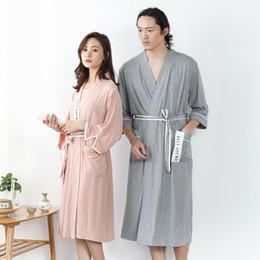 $enCountryForm.capitalKeyWord Australia - Men Bathrobe Kimono Japanese Bathrobe Bamboo Fiber Long Pajamas Bride Bathrobes for Bridesmaids Soft Robe Sleepwear Nightwear