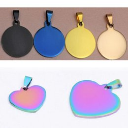 $enCountryForm.capitalKeyWord NZ - 100pcs lot Stainless Steel Blank Pet Dog Tags Fashion Pendants Plated with Different Colors Facotory Wholesale