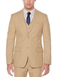 $enCountryForm.capitalKeyWord NZ - 2019 Brand New Beige Classic Style Two Button Groom Tuxedos Notch Lapel Groomsmen Best Mens Wedding Suits (Jacket+Pants+Vest)