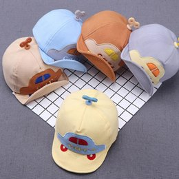 Discount hat cars Cute Car Embroidery Clockwork Kids Adjustable Soft Sun Visors Baseball Hat Cap Car and clockwork design visor baseball c