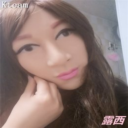crossdresser cosplay 2020 - New Cosplay Silicone Mask Realistic Female Skin Face Party Dance Masquerade Goddess Sophia Headwear for Crossdresser Dra