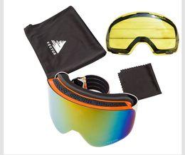 $enCountryForm.capitalKeyWord Australia - Ski Goggles Double Lens Uv400 Anti-fog Women Men Snowboard Skiing Glasses Snow Eyewear With Additional Lens