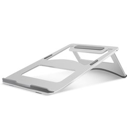 $enCountryForm.capitalKeyWord NZ - Folding Portable Metal Laptop Stand Aluminium Alloy Notebook Cooling Holder 18 Degree Ergonomics Angle for MacBook 10-17 inch car