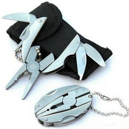 StainleSS Steel tongS online shopping - Multi Function Tool Pliers Keychain Outdoor Sport Portable Mini Multitool Gadgets Tortoise Shape Folding Tongs Key Ring LJJZ482