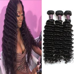 Discount water wave hair length - Indian Deep Wave Human Hair Bundles 3 4 5pcs Peruvian Straight Human Hair Extensions Water Wave Loose Deep Wave Virgin H