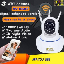 2mp network camera NZ - cctv Security camera IP wifi wireleess HD 1080p 2MP night vision Mobile remote view network arlam two way vioce Auto rotation