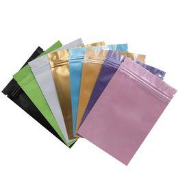 $enCountryForm.capitalKeyWord Australia - 150Pcs Lot Pink   Blue   Color Aluminum Foil Plastic Ziplock Pack Bag Flat Moisture-proof Zipper Package With Tear Notch