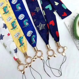 Wholesale Cartoon Cute Dinosaur Lanyard Neckband Key Id Card Mobile Phone With For Huawei Xiao Mi I Phone Usb Badge Holder Diy Lanyard