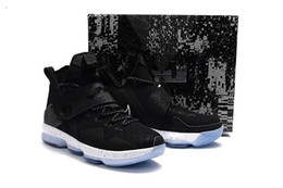 cheap floor mesh UK - Cheap Lebrons 14 mens basketball shoes for sale MVP Christmas BHM Oreo youth kids Generation sneakers boots with original box Size 7 12