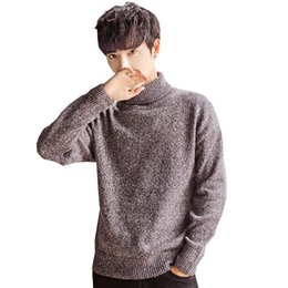 Men siMple winter clothes online shopping - 2019 NEW Sweaters Men Turtleneck Simple All match Soft Warm Winter Daily Knitting Sweater men Leisure Clothing New J656